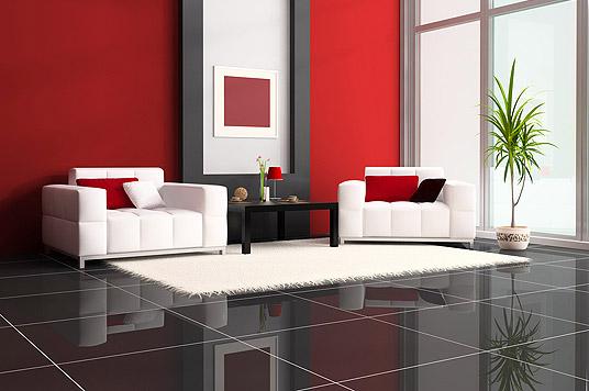 Wohnraumgestaltung mit Steinoberflächen, poliert, schwarzer Granit, modern, edel, einzigartig, Design für Individualisten