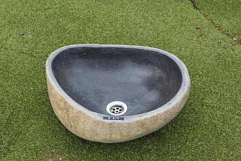 Natursteinwaschbecken Nr. B 270 / Größe: BxTxH: ca. 42x37x14 cm