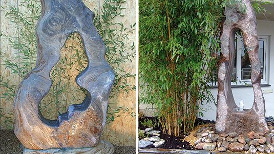 Ozeanfindlinge werden gerne als Gartenobjekte oder Quellsteine genutzt.