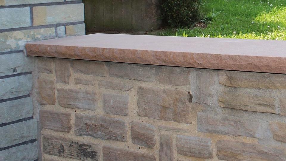 Mauerabdeckung Eifel Sandstein