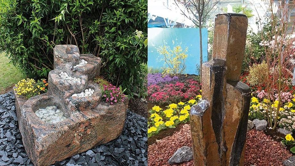 Kaskadenbrunnen und Brunnenstelen
