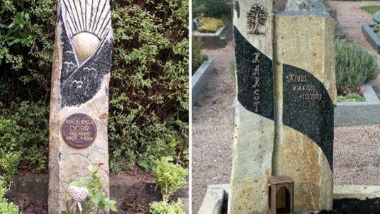 Gedenksteine aus Basalt von Kroll-Natursteine.